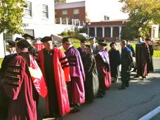 Presidential inauguration at Amherst College