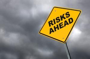 ergonomic risk factors - risks ahead sign