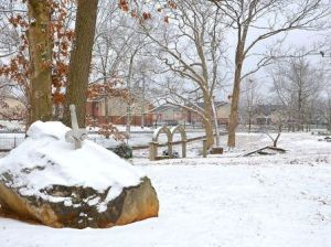 Round Table Park in Snow